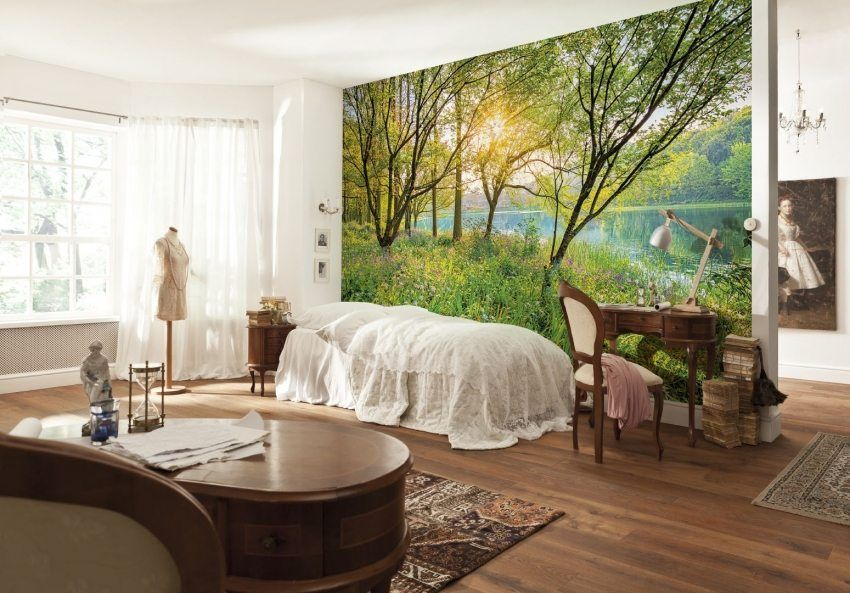 3D photo wallpapers for walls: photo-catalog of interiors, design techniques in design