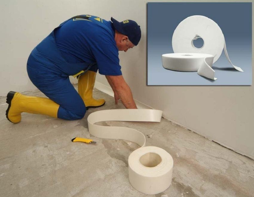 Damping tape for floor screed: purpose, properties and installation