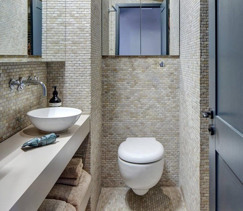 Small size toilet design: photos and tips