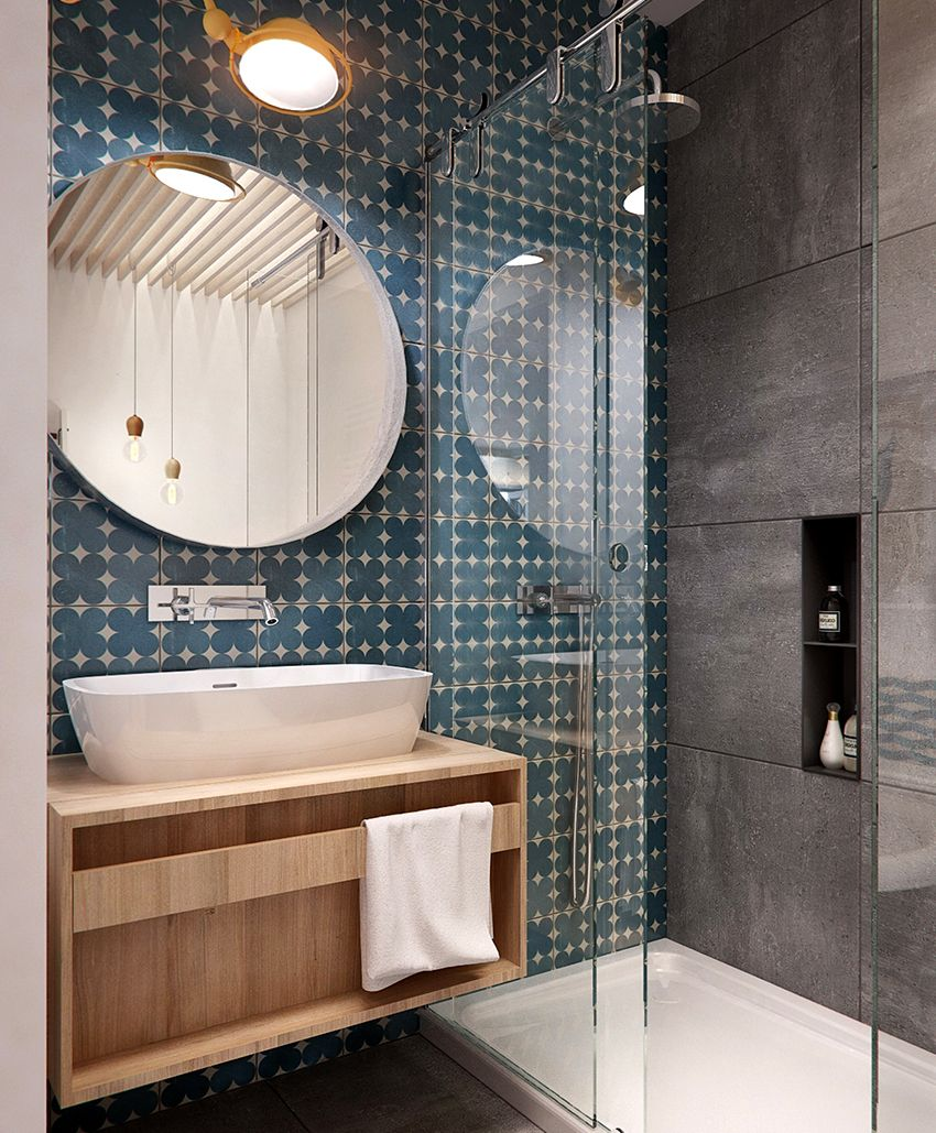 Shower in a niche: the best option for a small bathroom