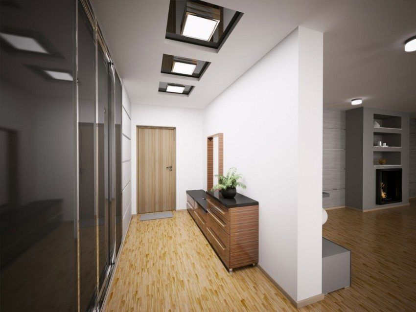 Two-level plasterboard ceilings, photo and description