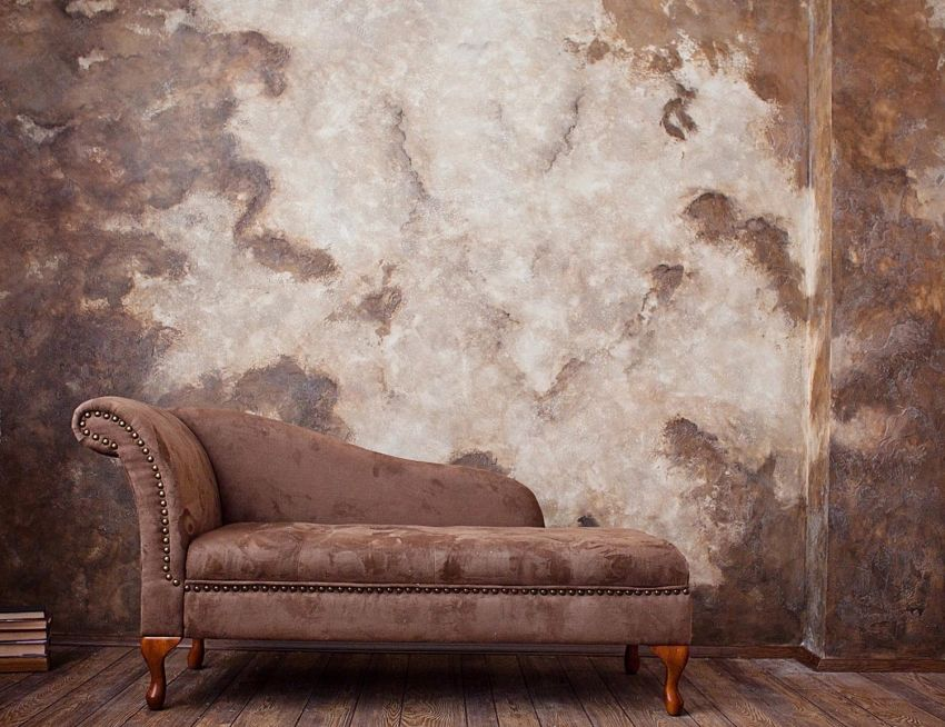 Textured plaster for walls: a spectacular transformation of the surface