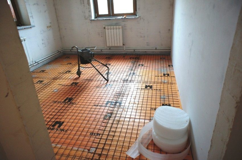 Using penoplex for floor screed