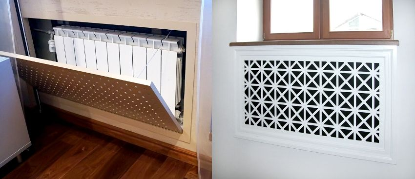 Screen on the heating battery: protective and decorative element in the room