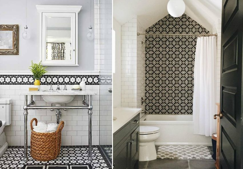 Ceramic tiles in the bathroom: the design of modern finishes