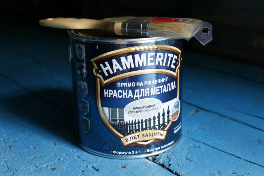Hammer paint on metal and the advantages of its application