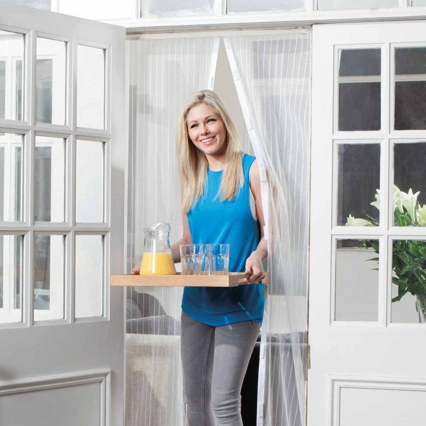 Mosquito net on the door: a multifunctional element of protection of the room