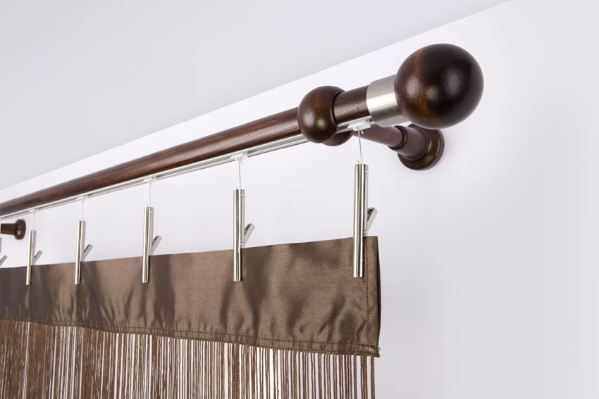 Wall curtain rods for curtains. Photos of interesting ideas