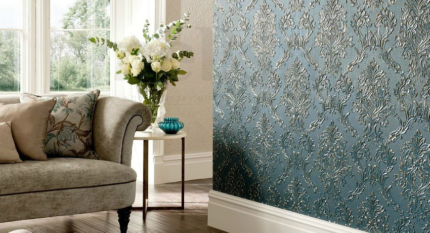Wallpaper for painting in the interior: photos of successful design solutions