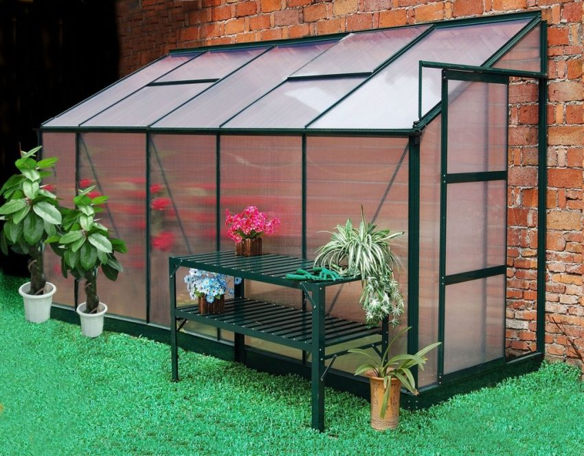 Polycarbonate greenhouse: dimensions and prices of finished structures
