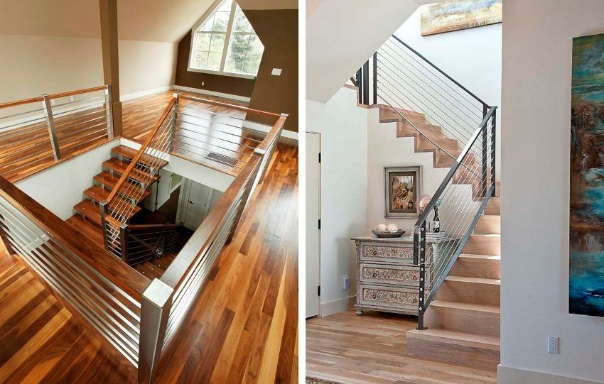 Stainless steel railing: types, features, installation and maintenance