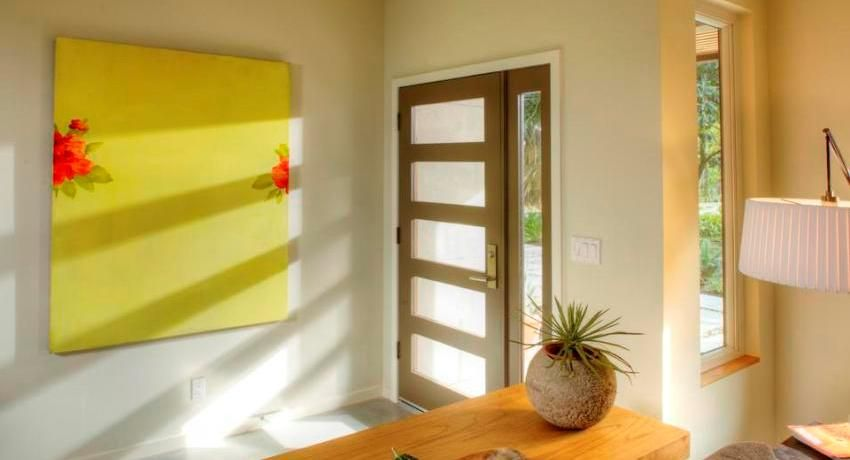 Plastic doors for private homes, photos and features