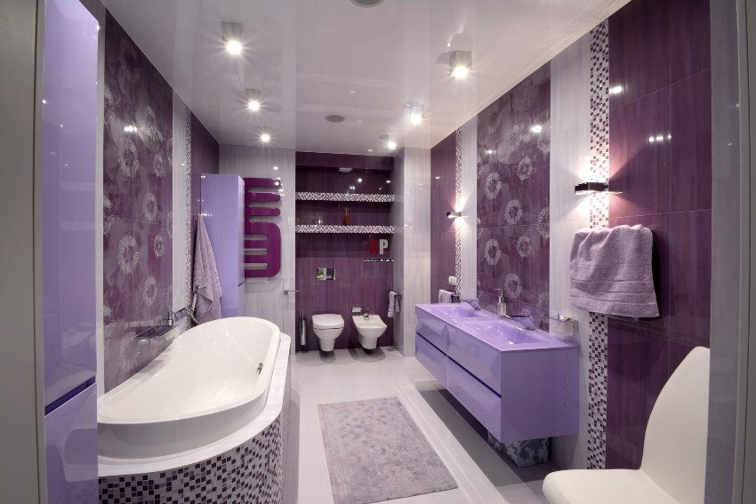 Pros and cons of suspended ceilings in the bathroom: photos and tips