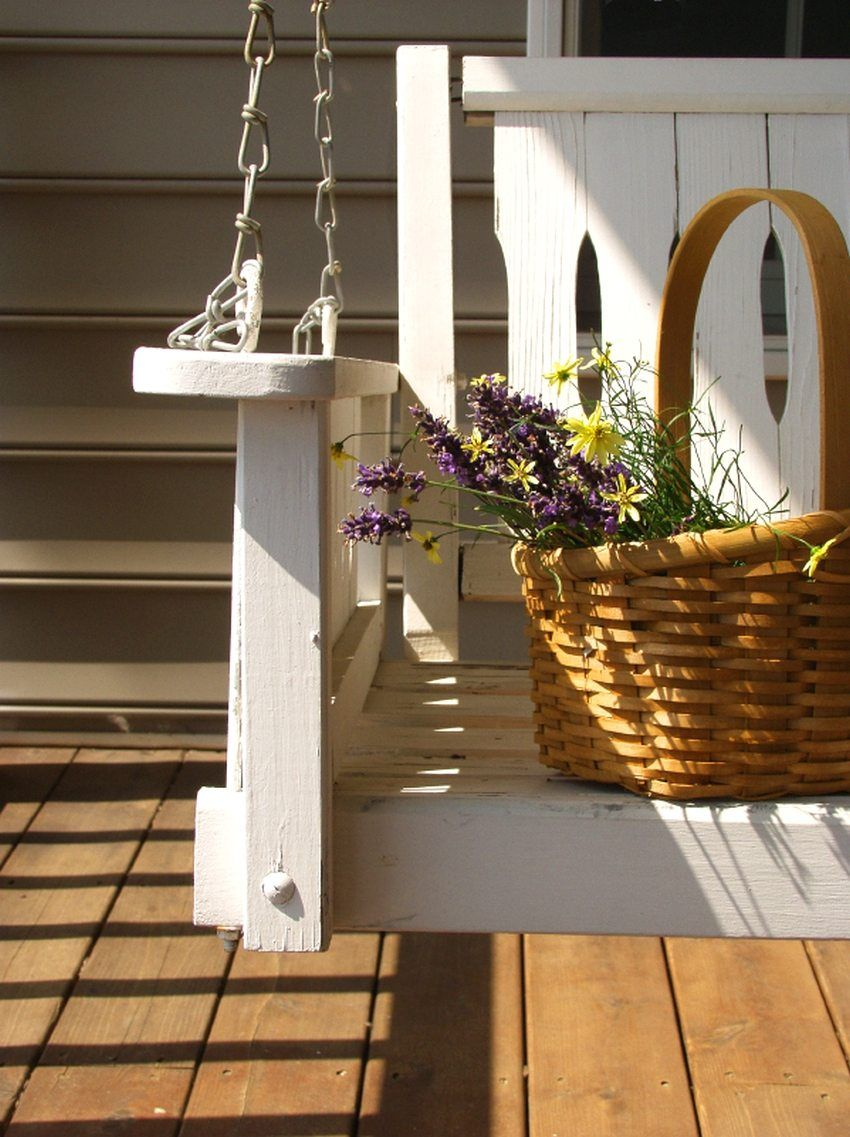 Pallets are an excellent material for creating original garden furniture.