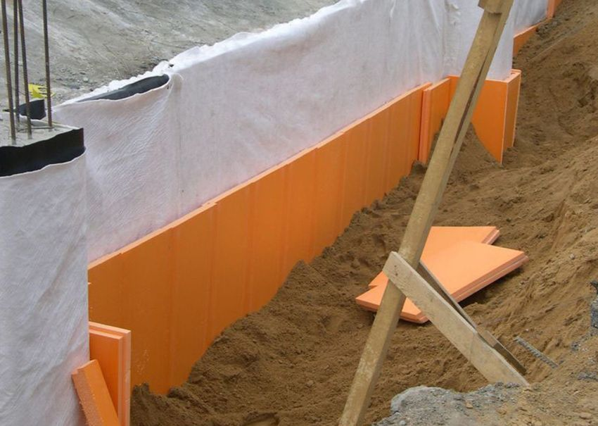 The technology of effective insulation of the basement penoplex