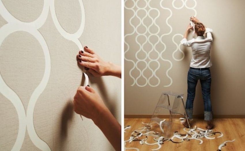 Stencils for walls for painting: a creative way of interior decoration