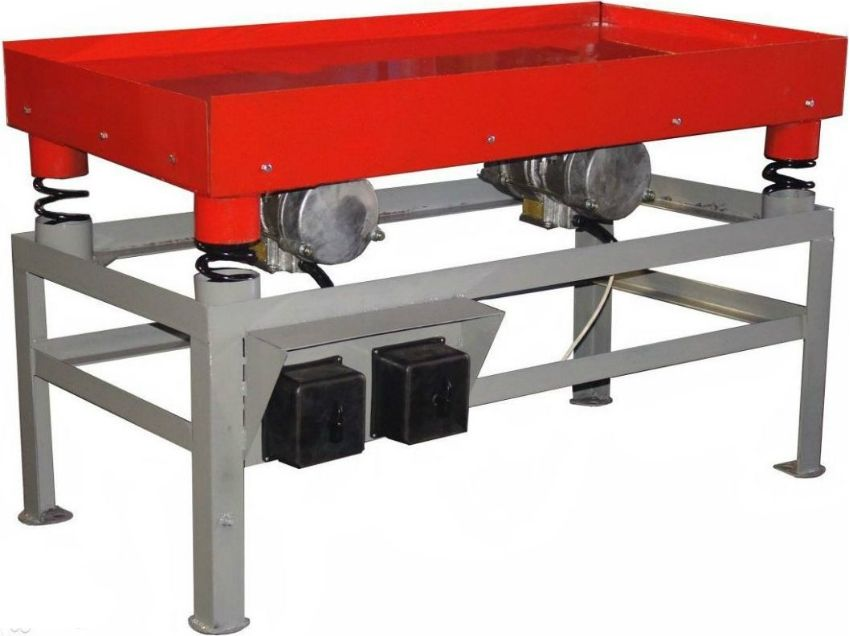 Vibrating table for paving slabs do it yourself: all stages of design and assembly