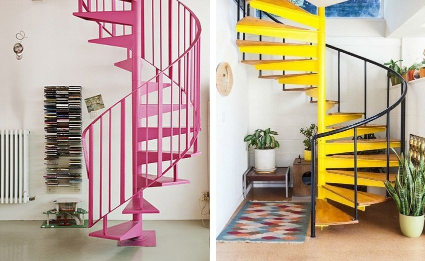 Spiral stairs to the second floor in a private house: photos, prices for designs