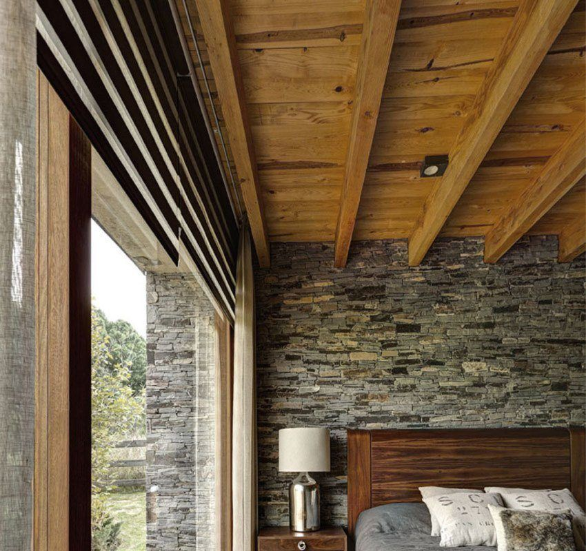 Interior trim imitation timber. Photo ideas and interior options