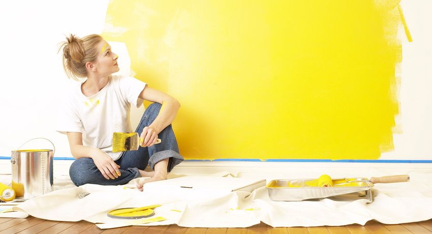 Aqueous emulsion paint for walls and recommendations for its application