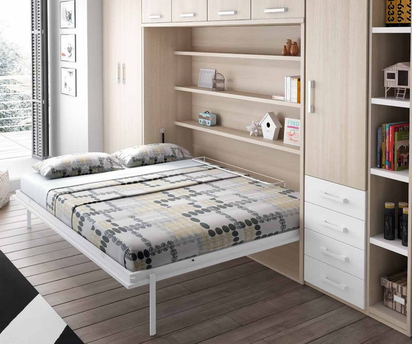 The bed which is built in a case: an ergonomic and modern element of an interior